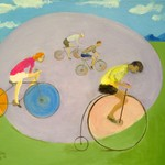 Four Bicyclists