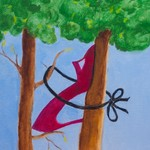 Red Shoe in Tree
